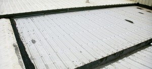 Old metal roof that needs repair